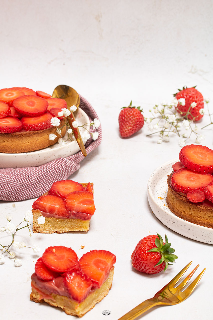 recette tarte fraise amandine