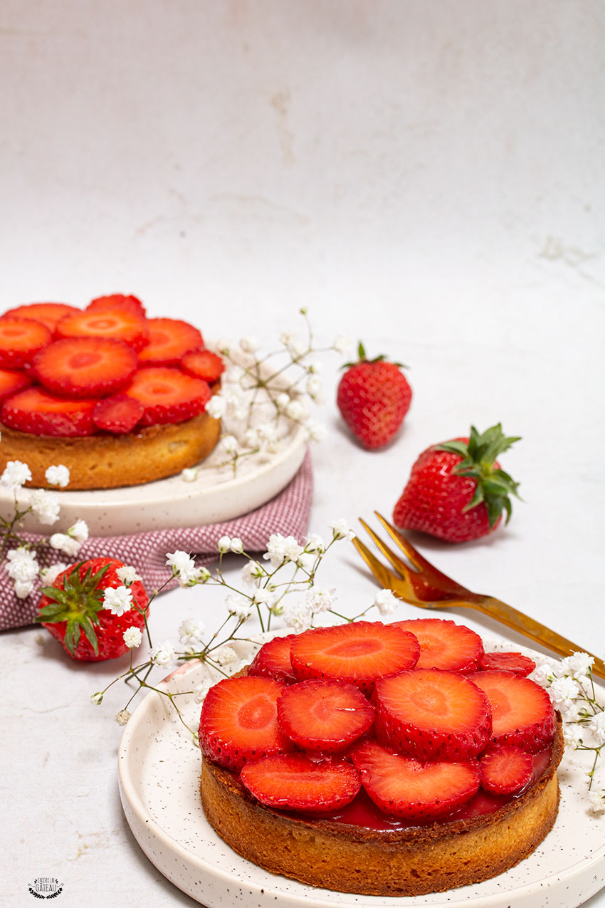 tarte amandine fraise