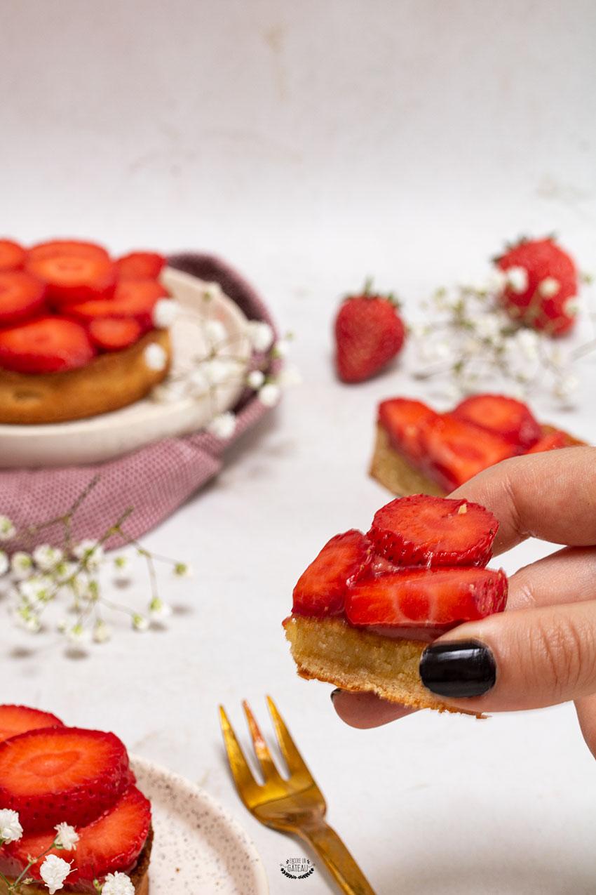 tarte amandine fraise recette