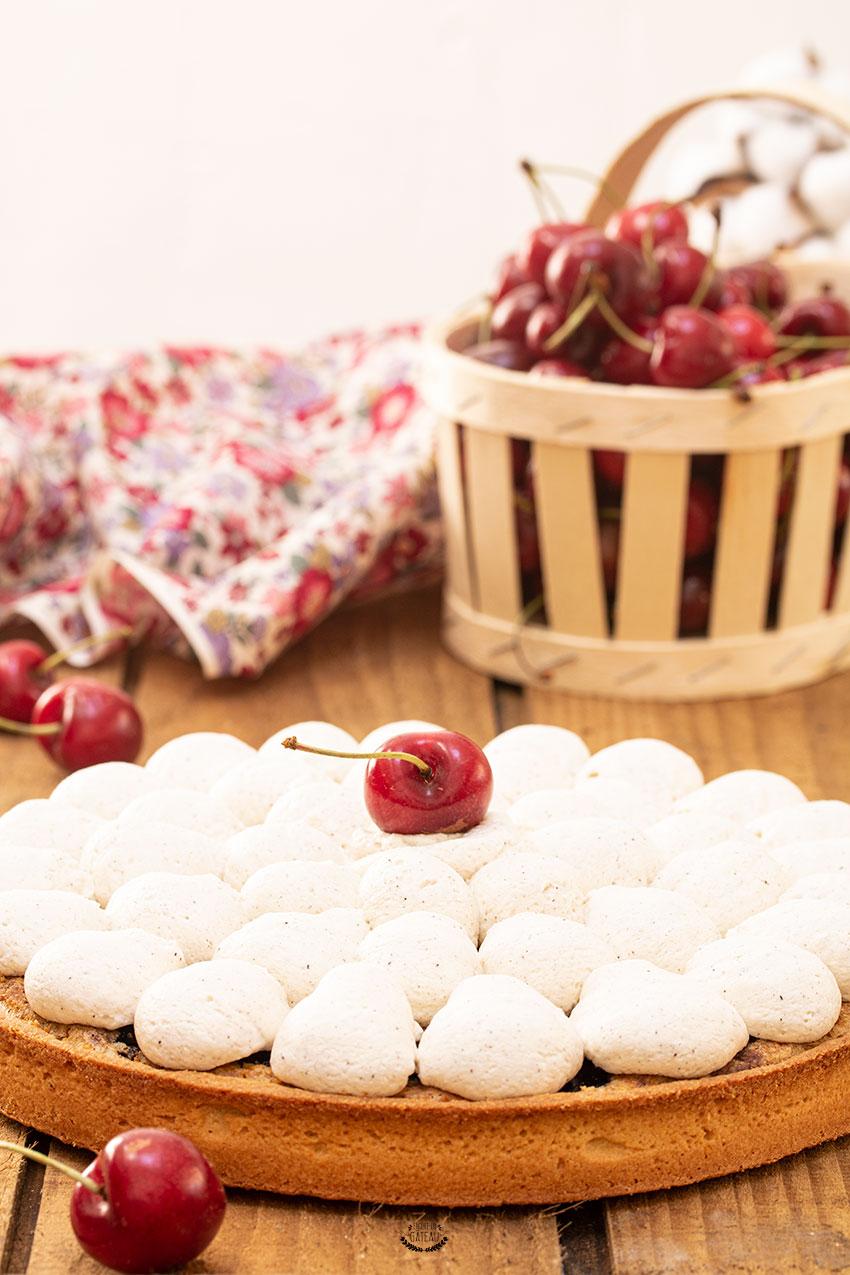 tarte cerise pistache
