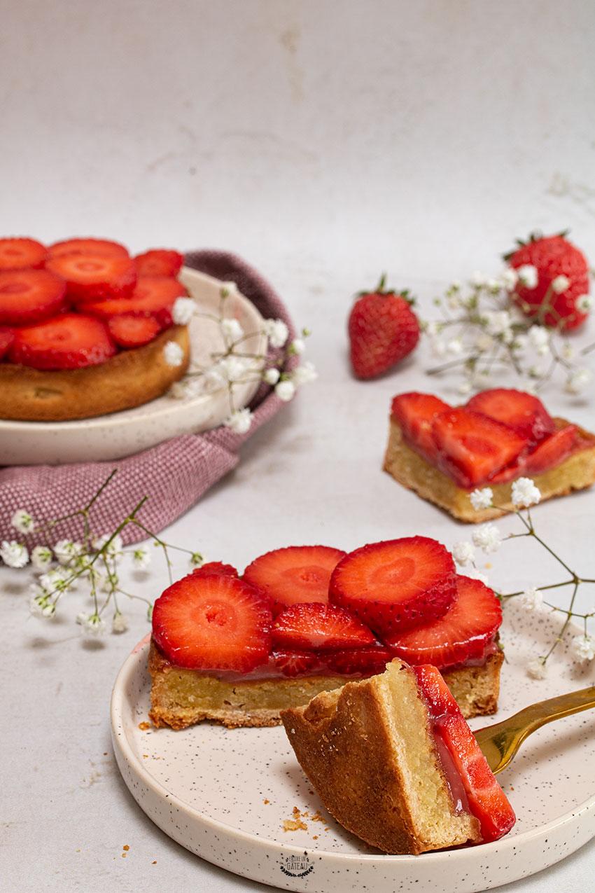 tarte fraise amandine