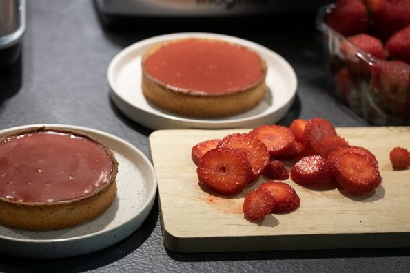 tarte ganache fraise