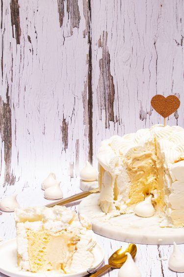 vacherin vanille caramel beurre salé