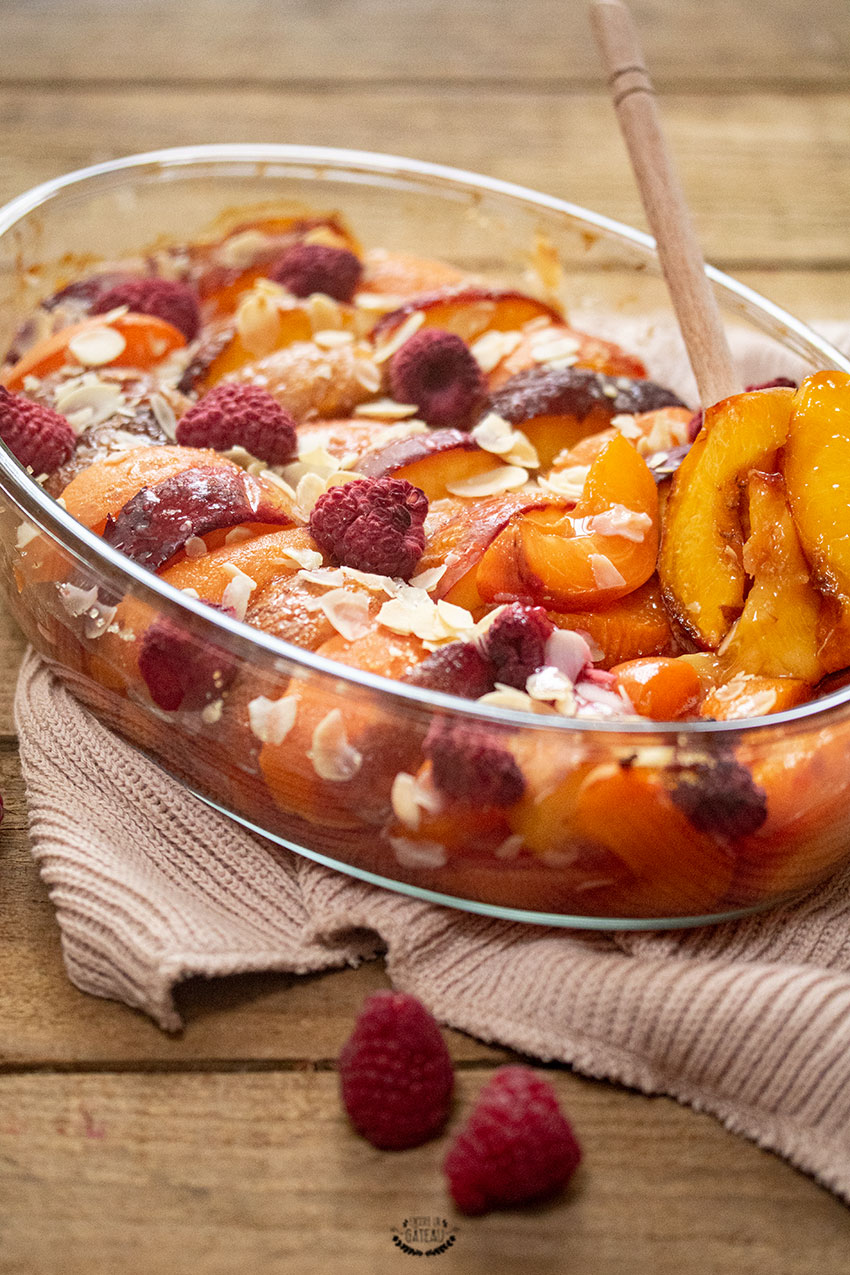 fruits d'été en gratin