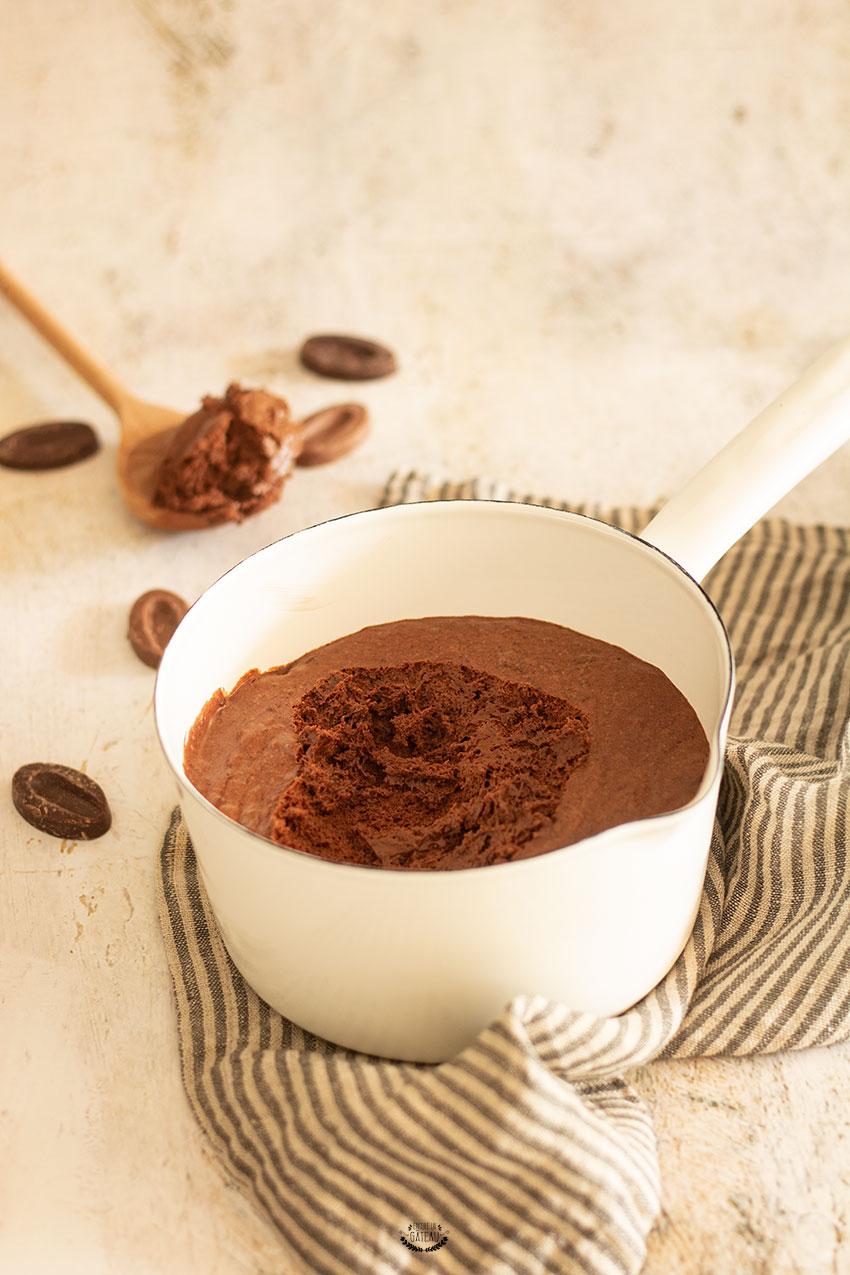 mousse au chocolat avec des blancs d'oeufs