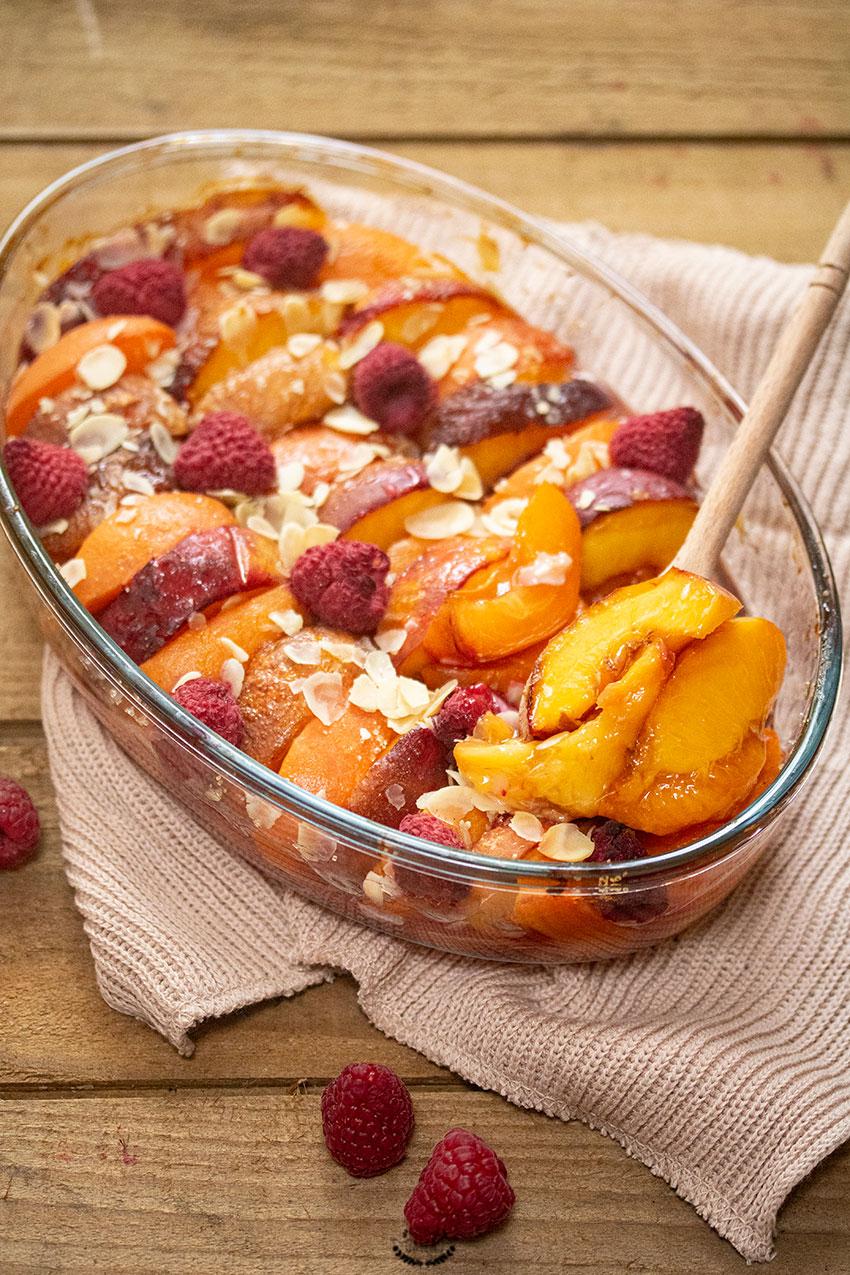 recette gratin de fruits