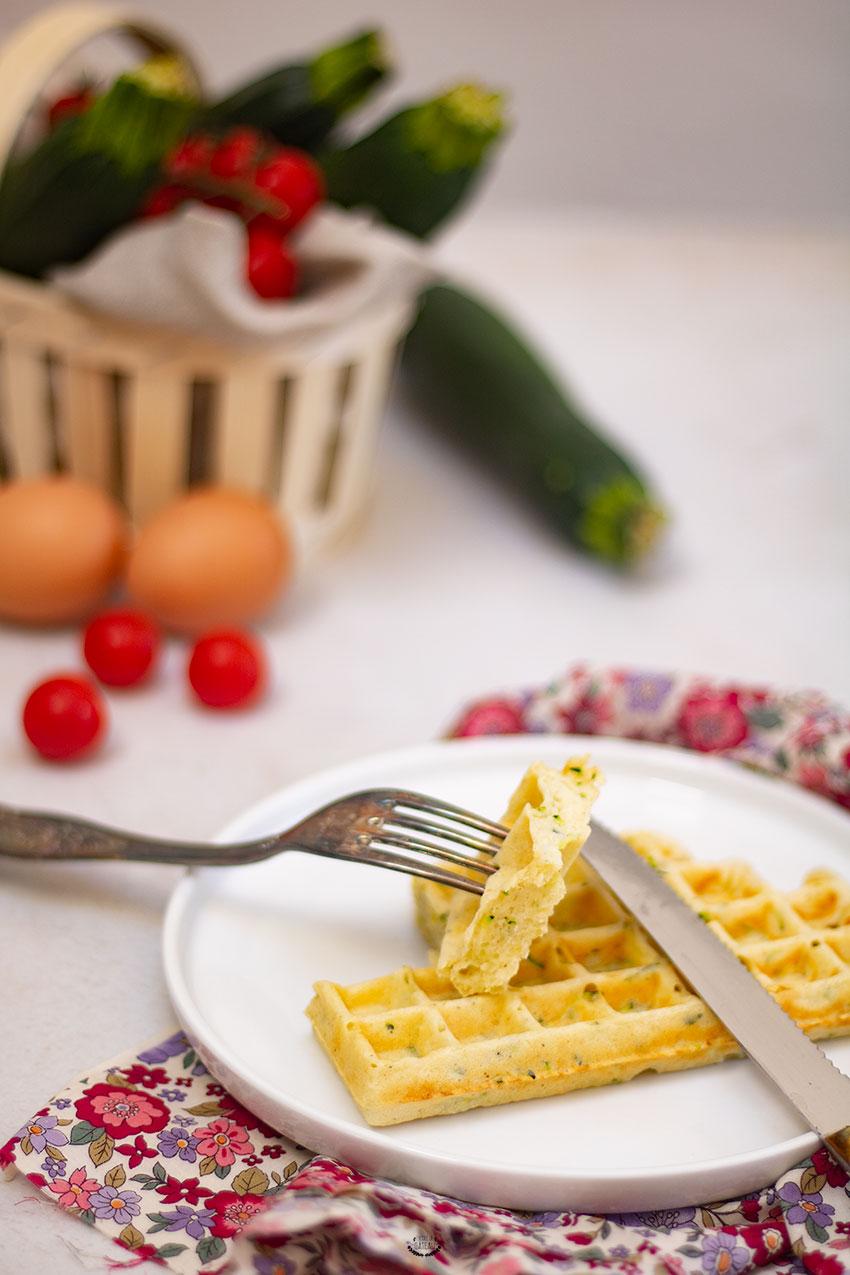 gaufres courgettes recette