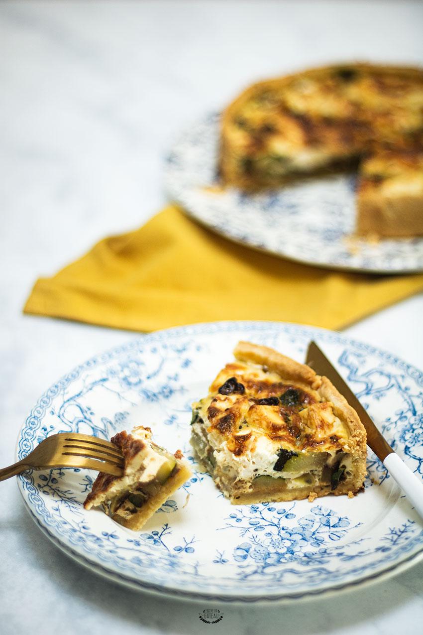 recette tarte courgette féta