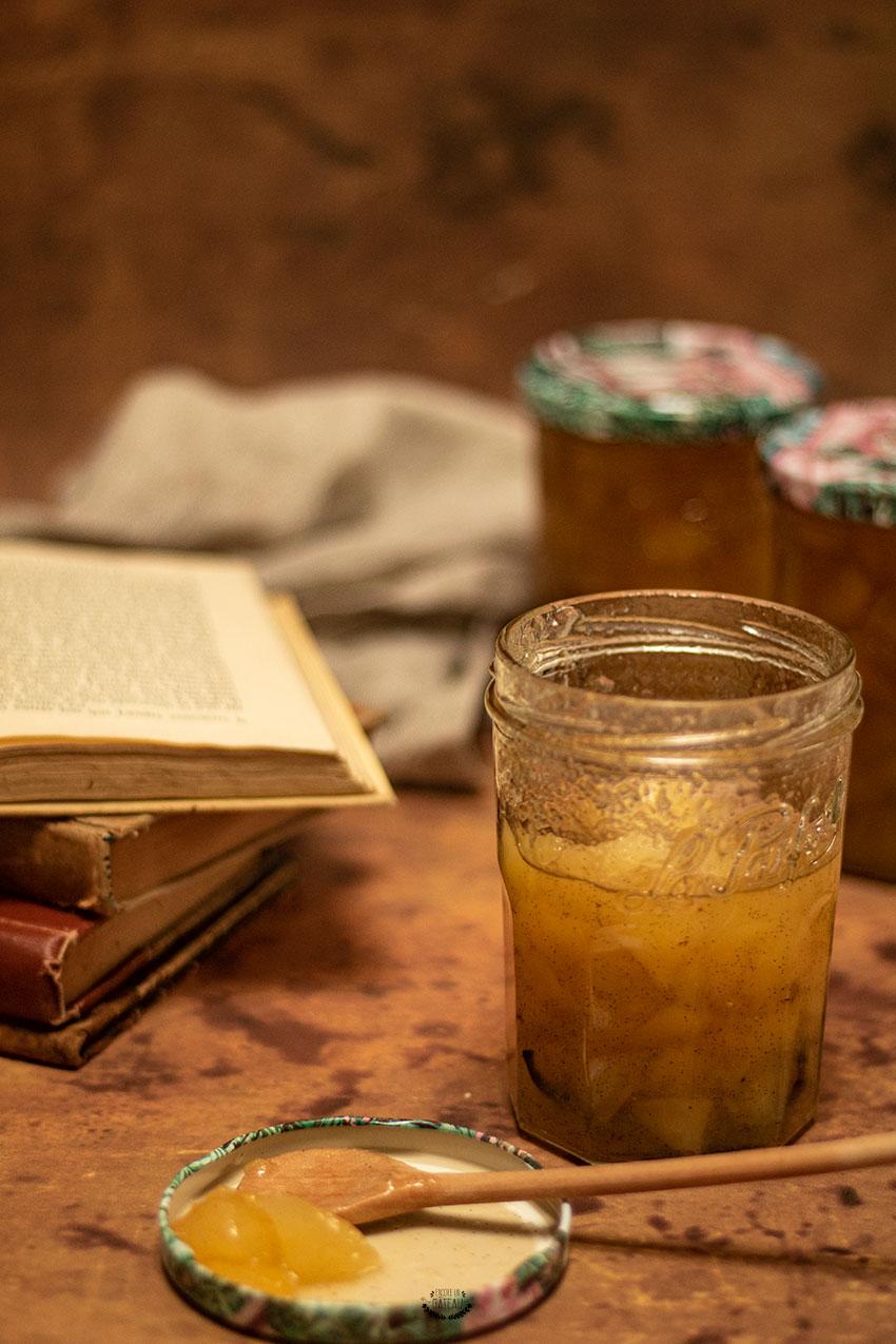 confiture à la poire et à la vanille
