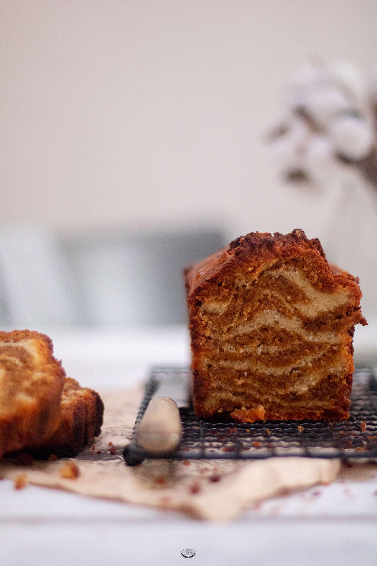 gâteau marbré praliné