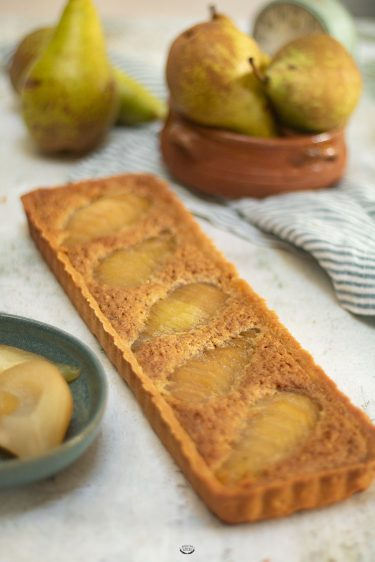 recette tarte poire pistache