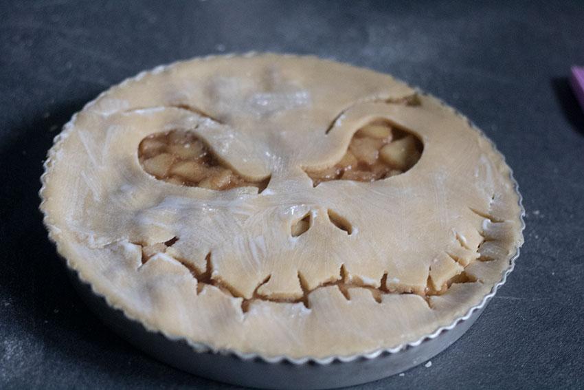 tarte halloween avant cuisson