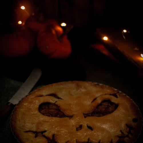 tarte halloween aux pommes