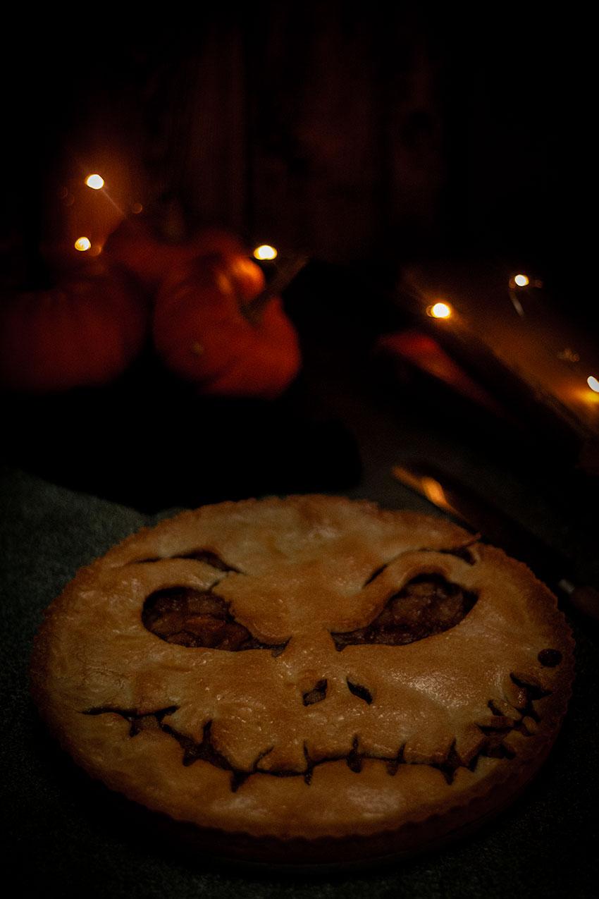tarte aux pommes halloween