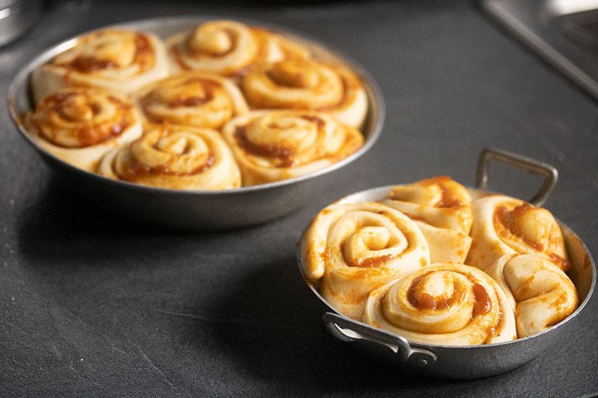 Cinnamon rolls au potimarron