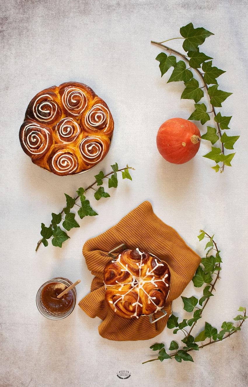 cinnamon rolls au potimarron recette