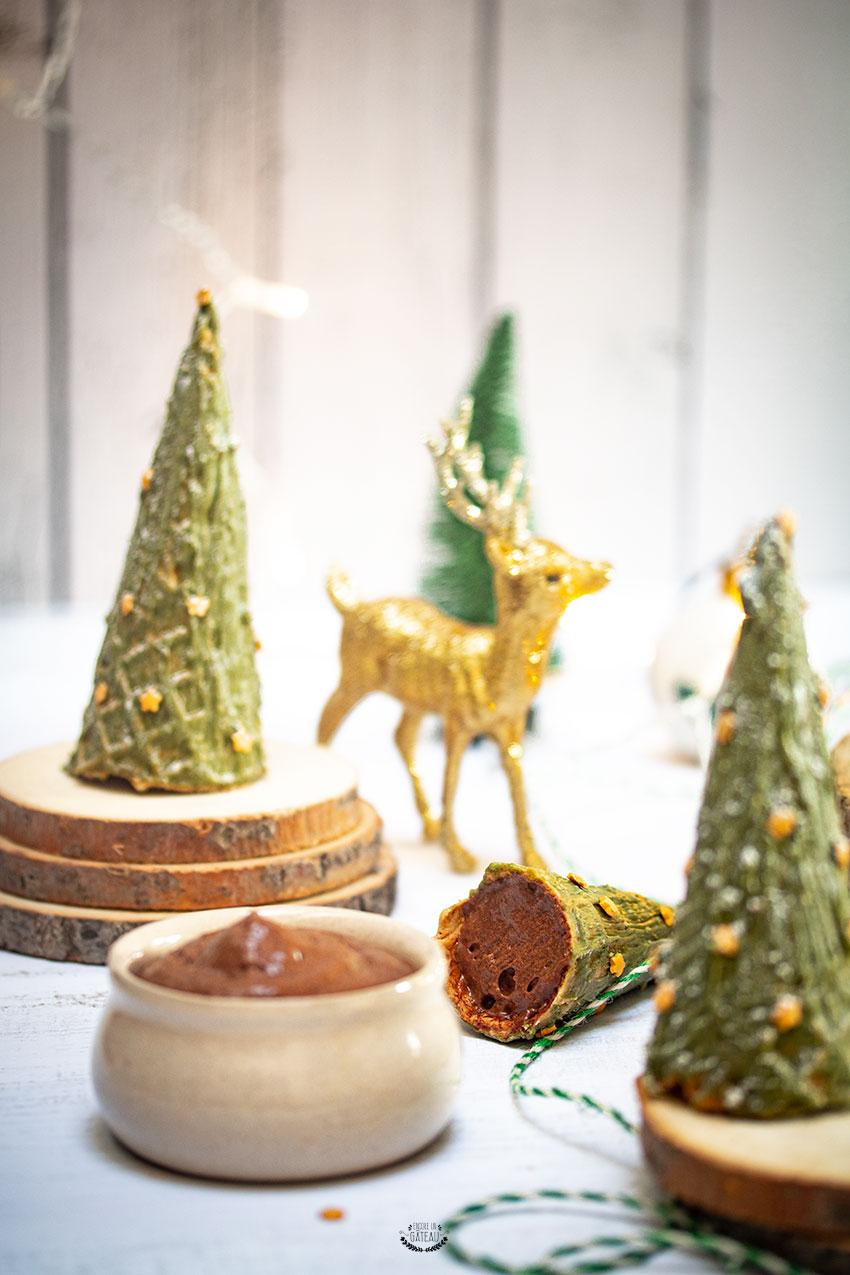 forêt sapins de noël mousse chocolat