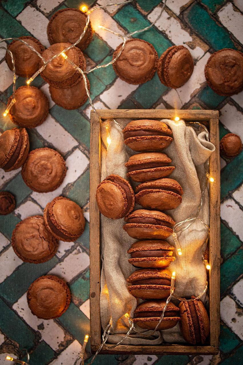 macarons chocolat yuzu pain d'épices