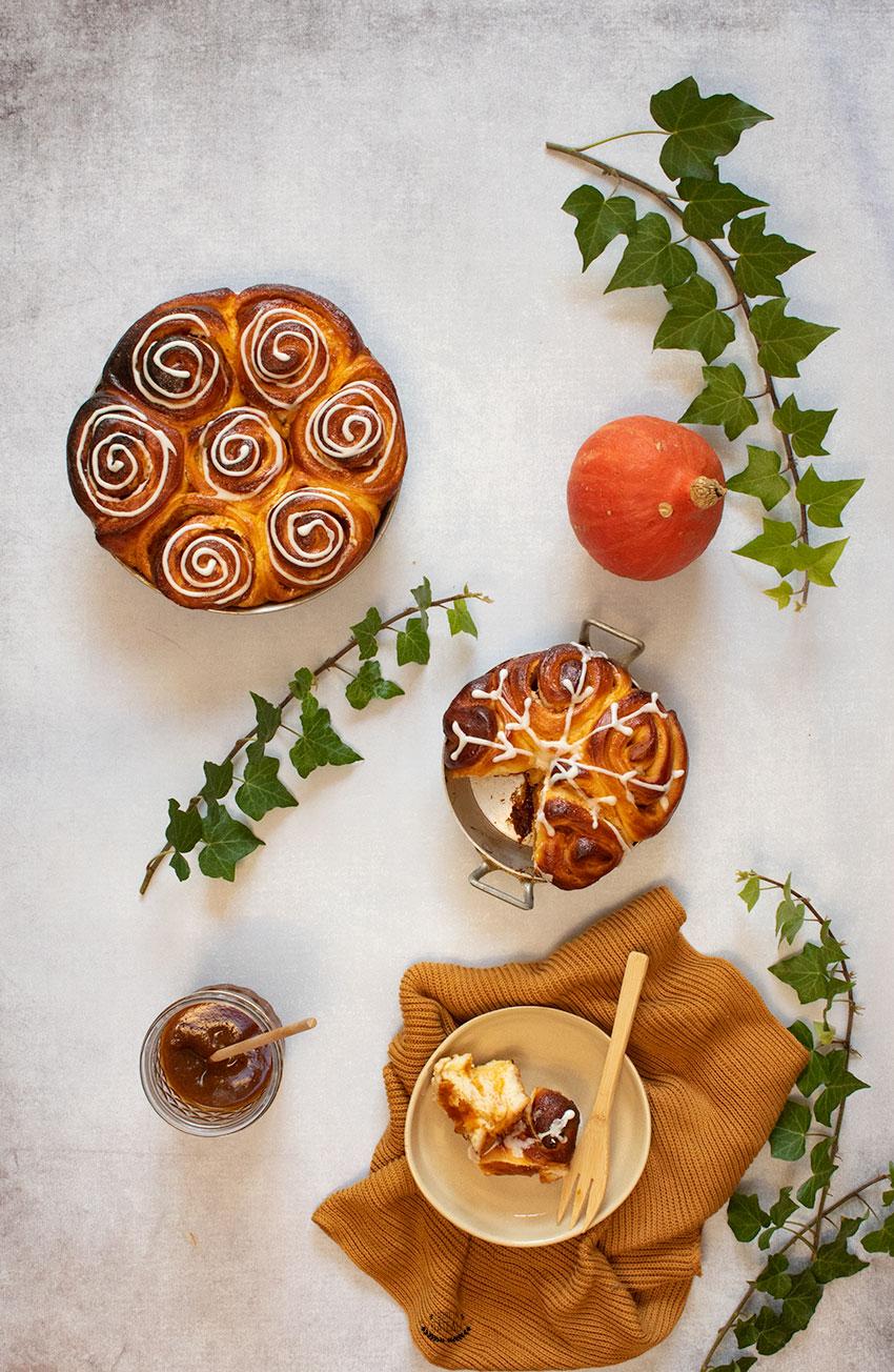 recette cinnamon rolls au potimarron