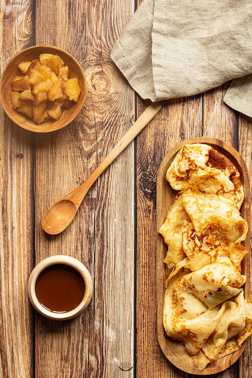crêpes aux pommes samoussa