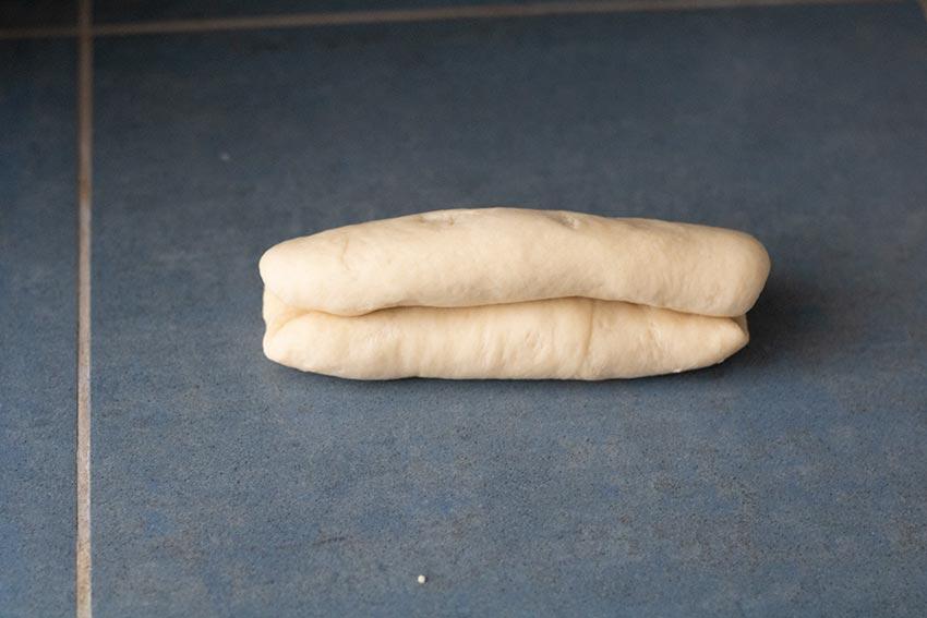 deuxième pli pain viennois