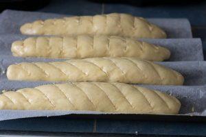 baguette viennoise avant cuisson