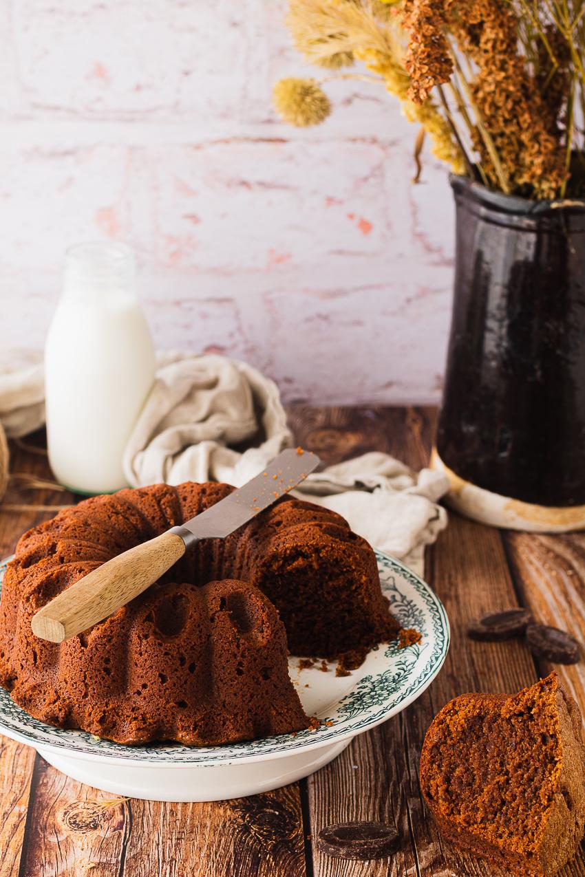 bundt cake chocolat et mascarpone