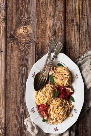 pâte féta et tomate recette tik tok