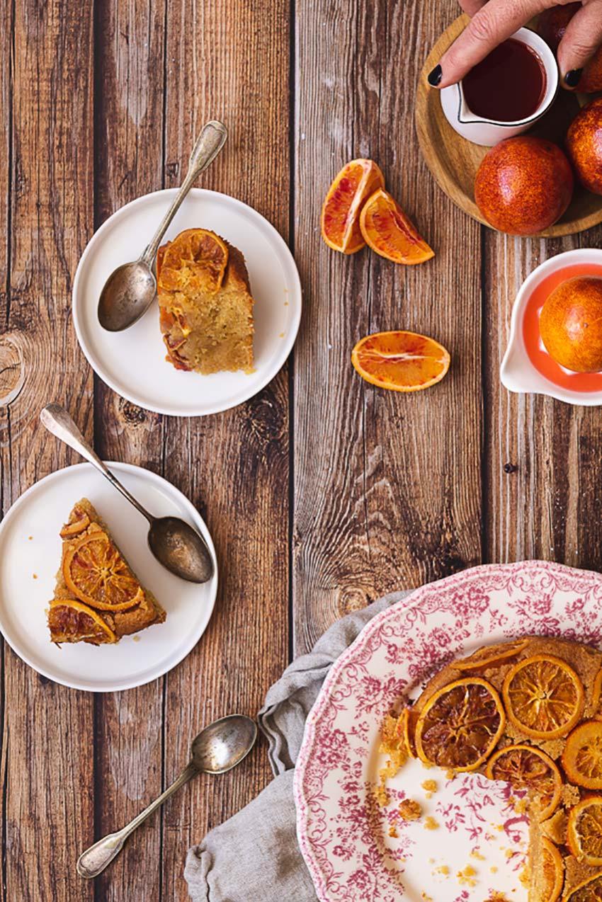 recette gâteau polenta orange sanguine