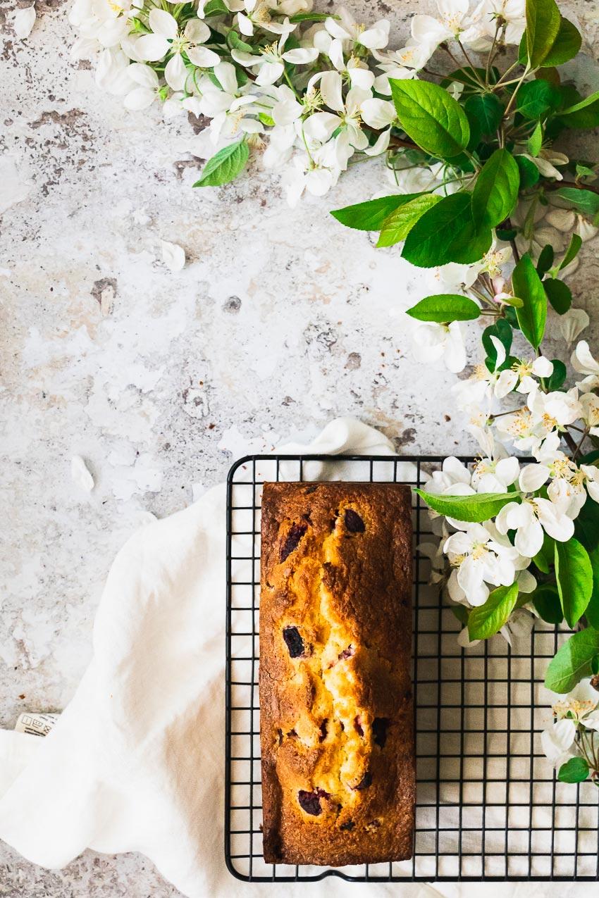recette cake framboise coco