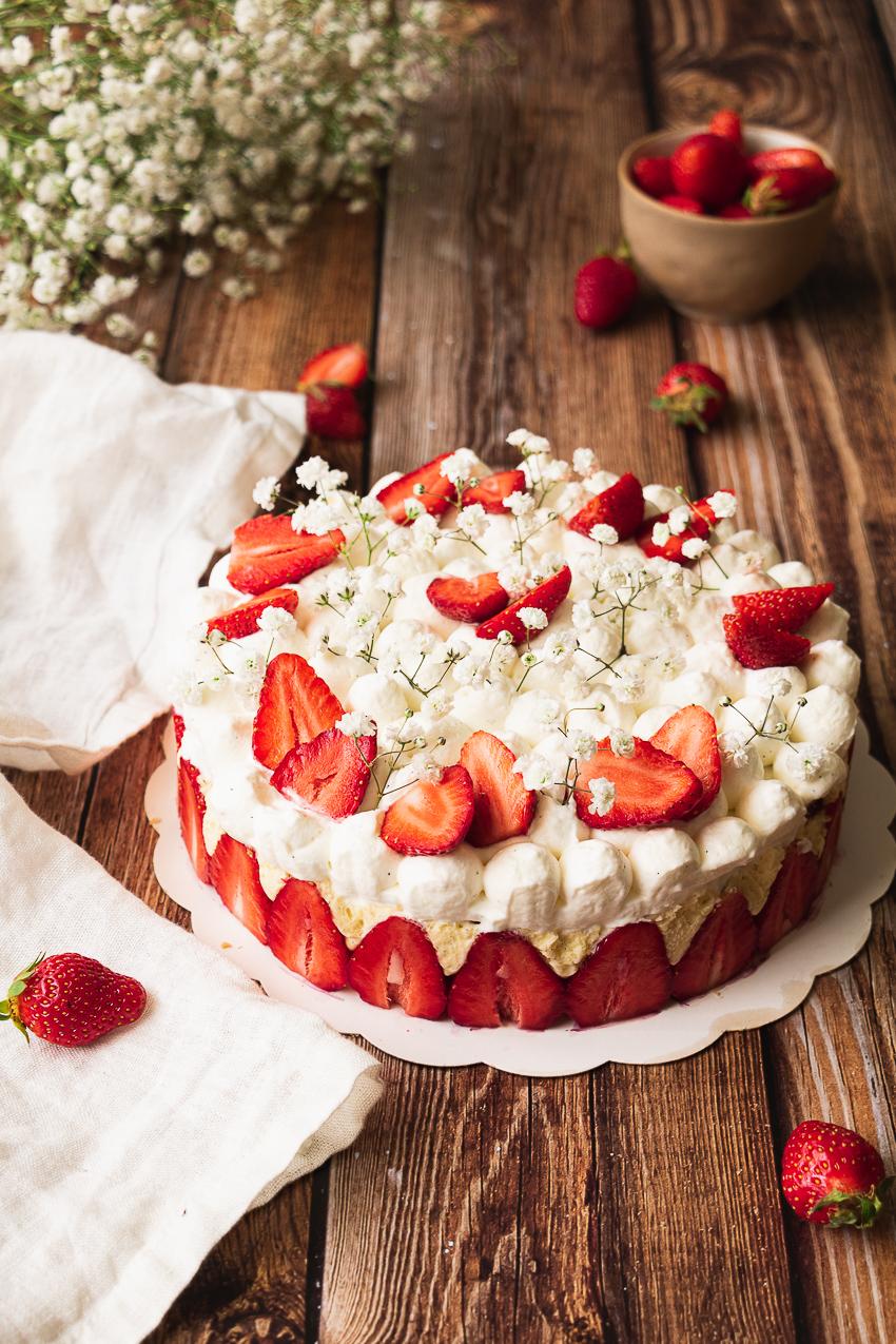 fraisier dacquoise crème mousseline hugues pouget