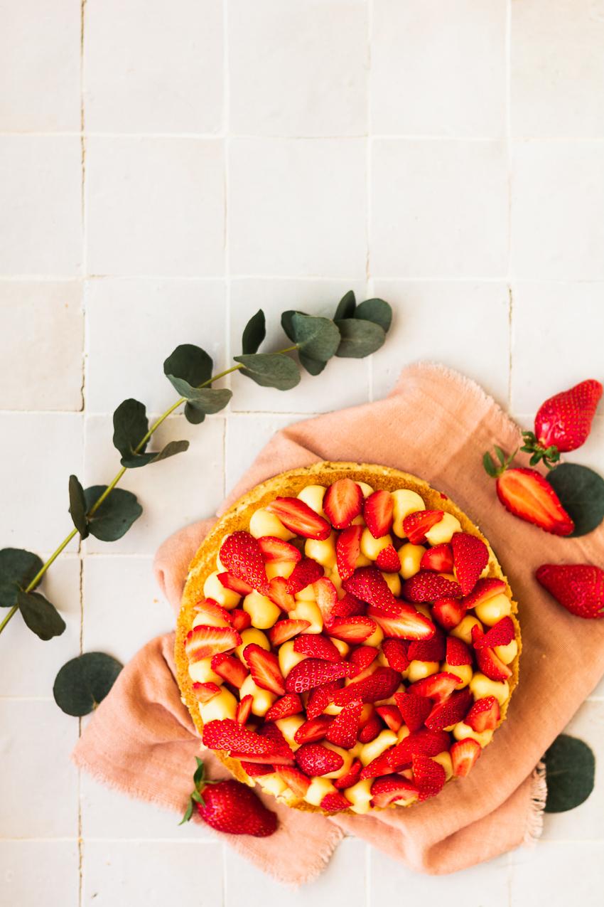 fraisier au citron recette