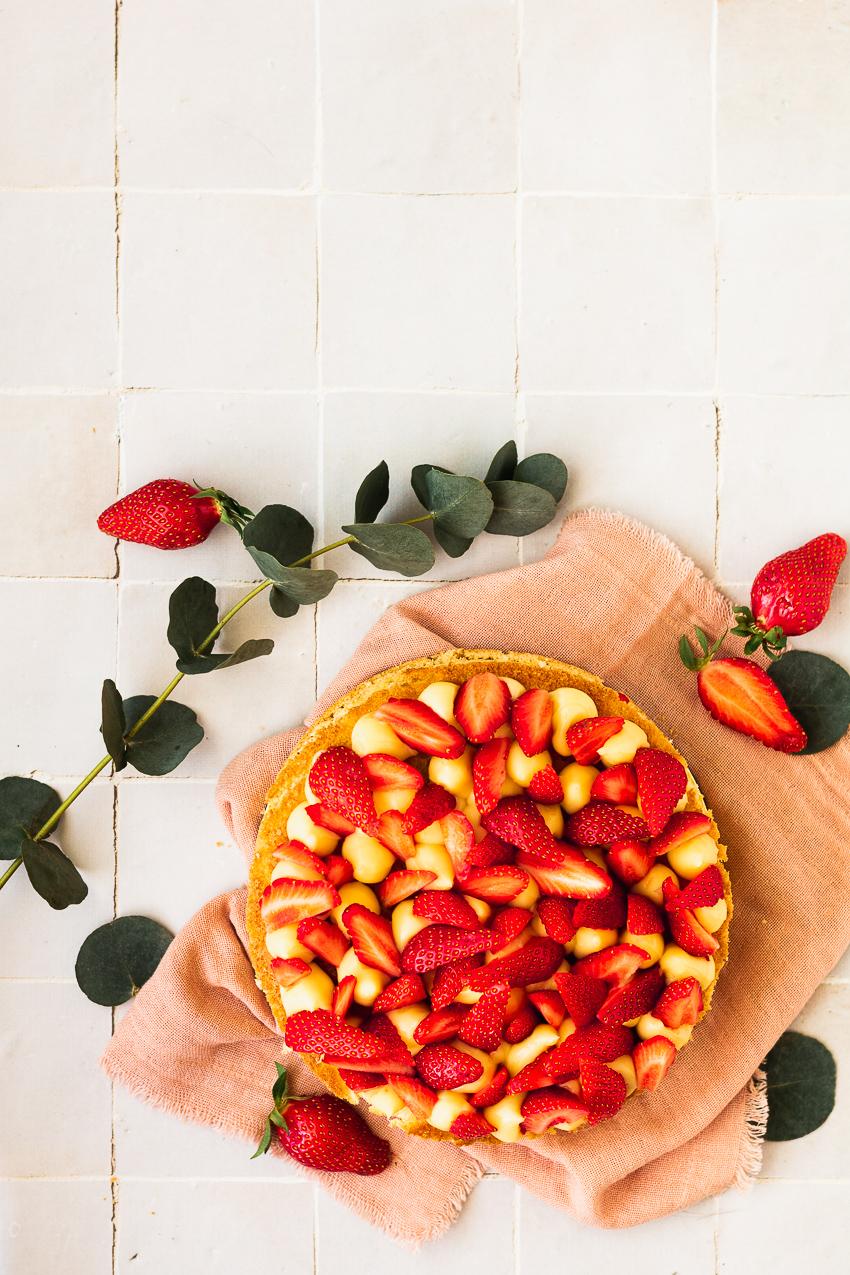fraisier au citron rapide et simple