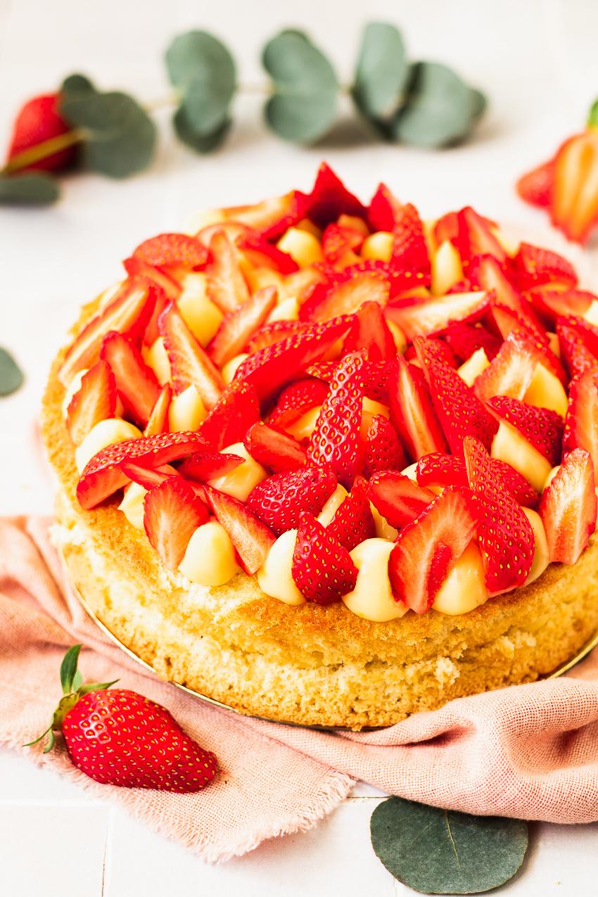 recette de fraisier au citron