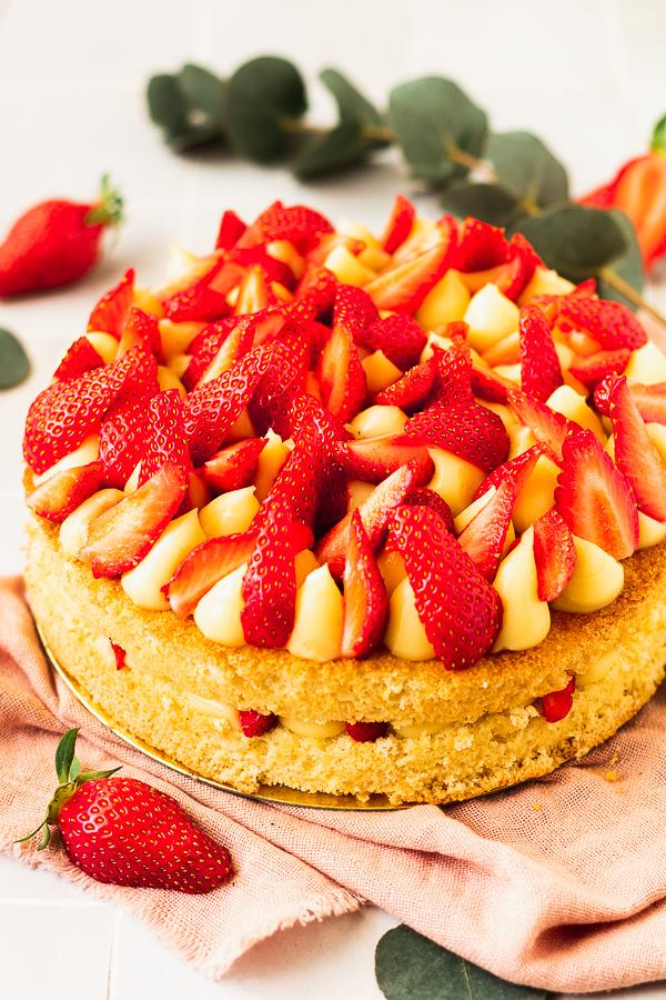 fraisier au citron facile
