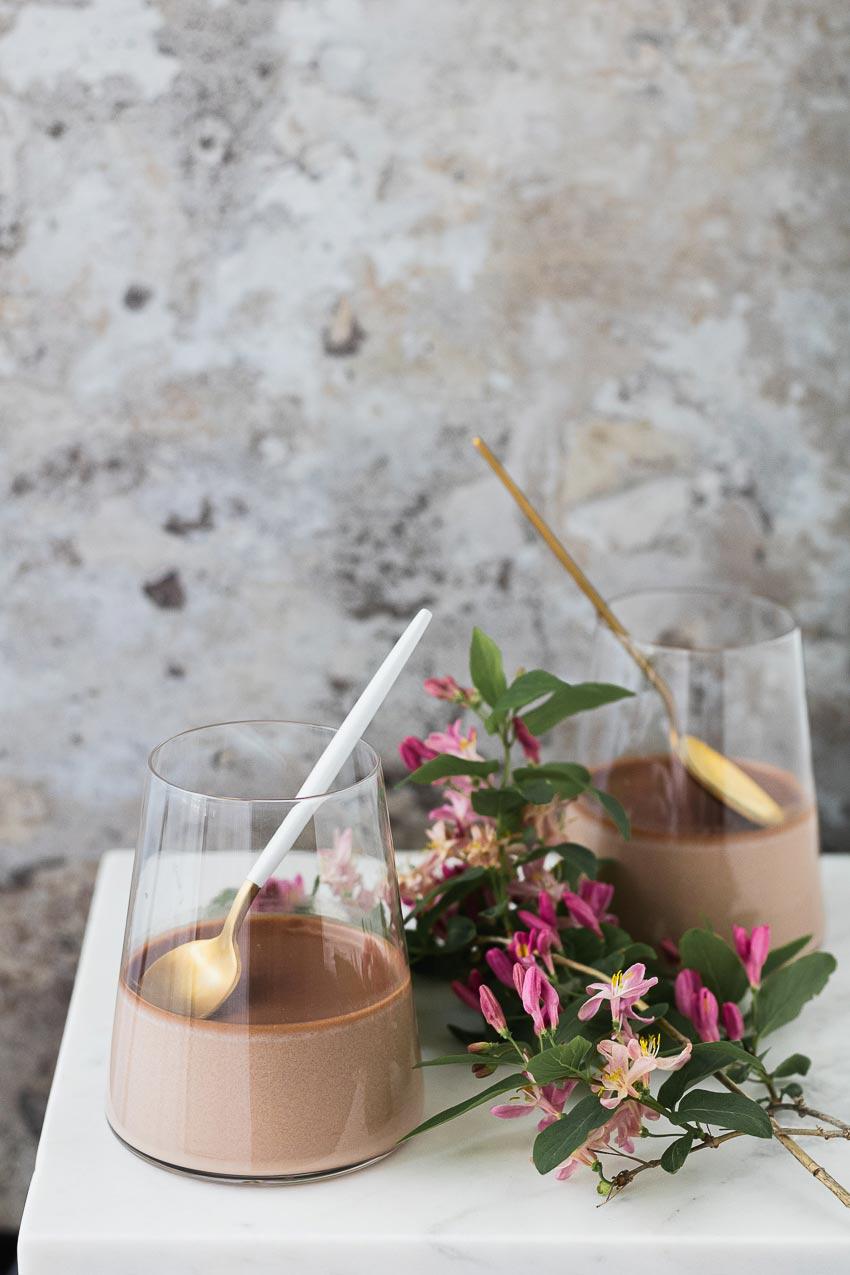 recette de panna cotta au chocolat