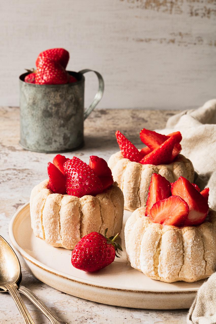 charlotte au chocolat blanc et fraises
