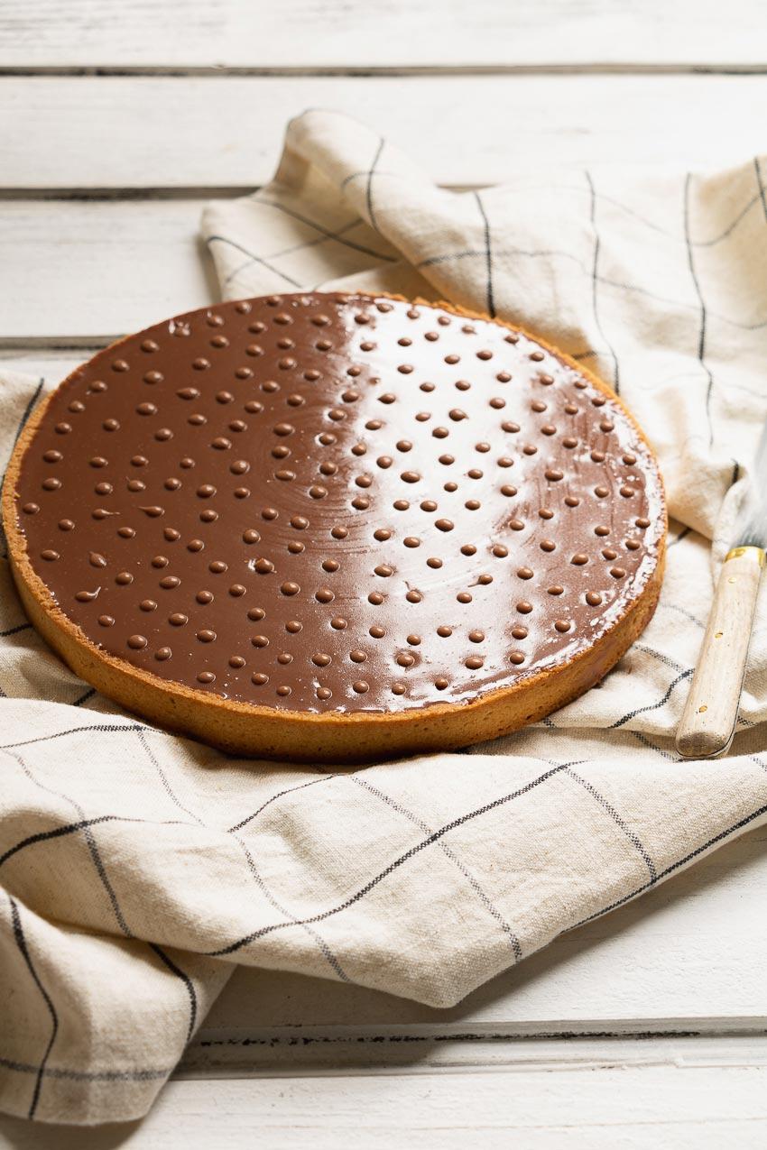 tarte chocolat lait praliné