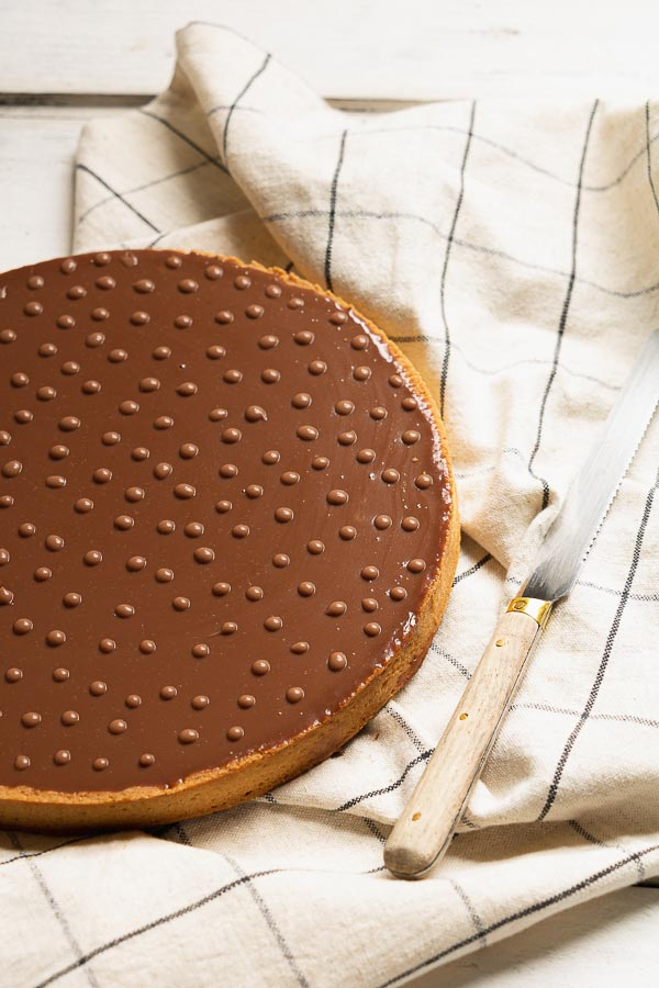 recette tarte praliné chocolat au lait