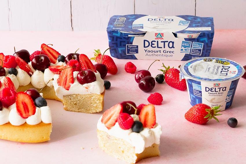 gâteau couronne fruits recette yaourt grec