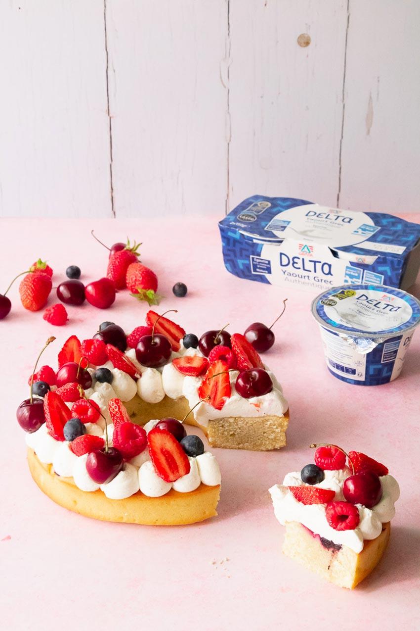 gâteau  couronne fruits