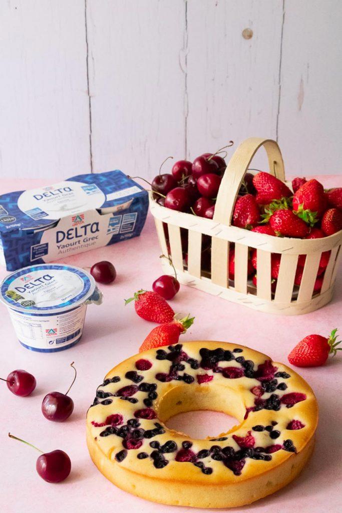 gâteau yaourt forme couronne