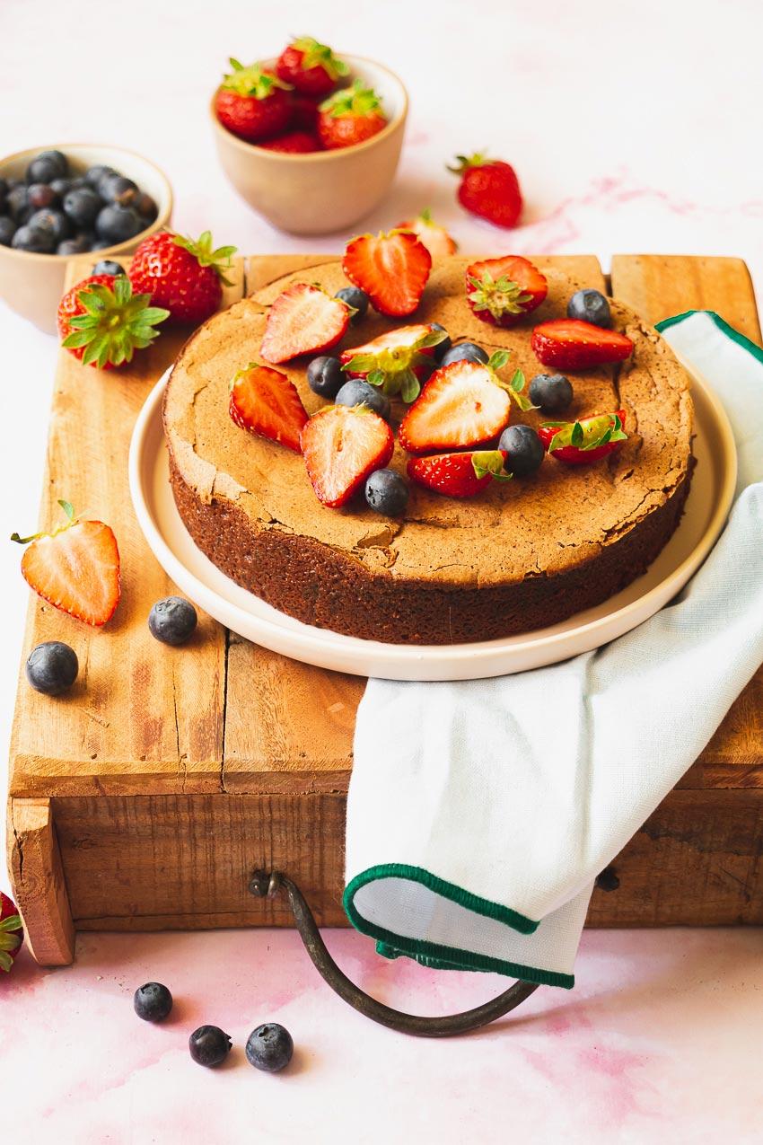recette facile de fondant au chocolat à la compote de pomme