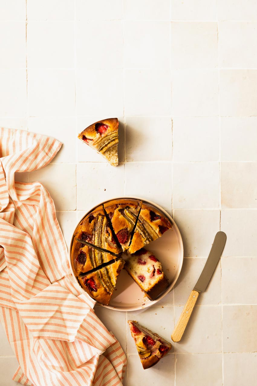recette banana bread fraise