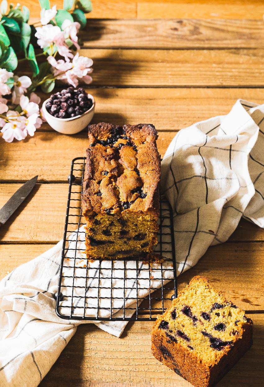 recette cake pistache myrtilles
