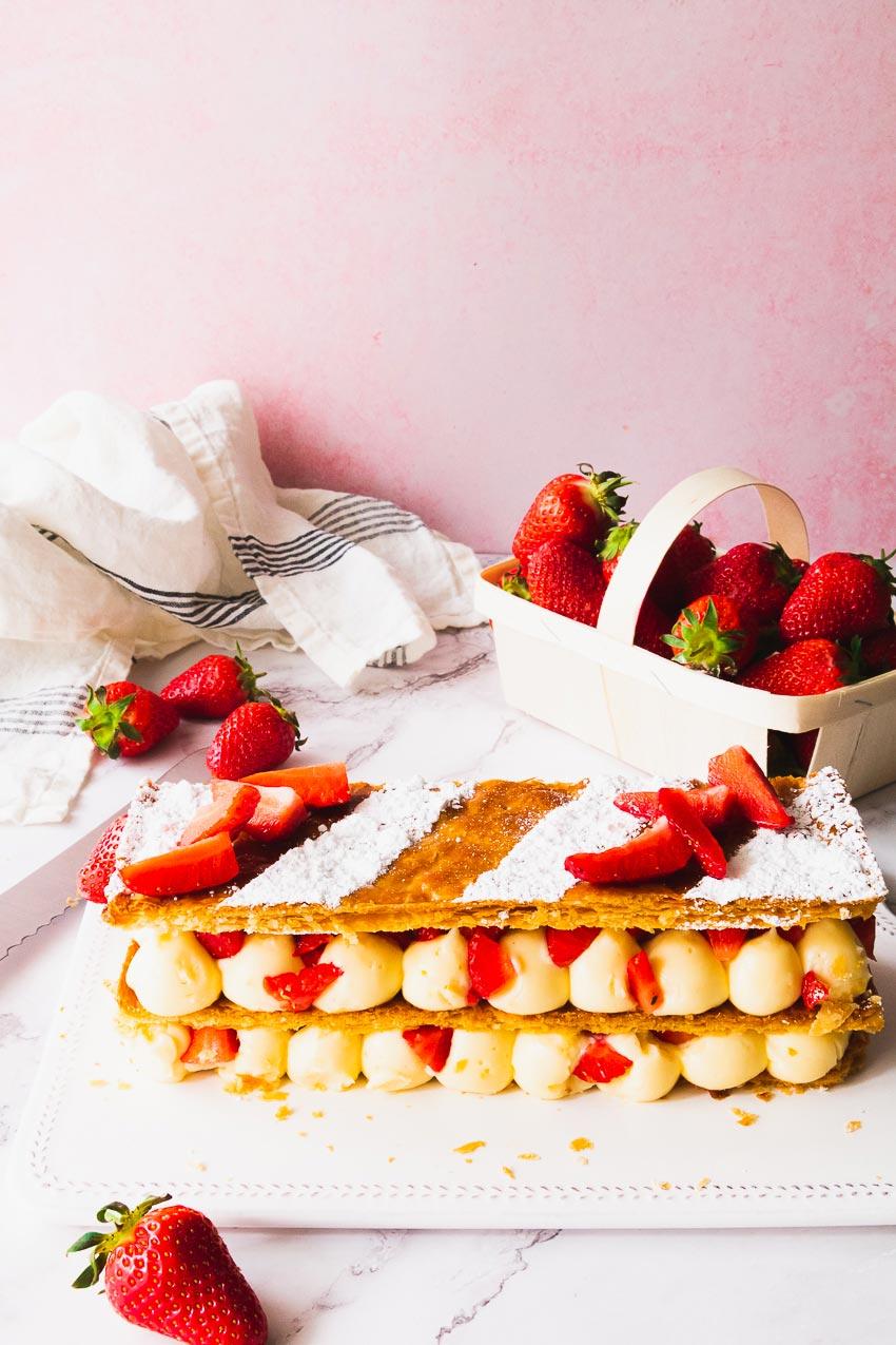faire un mille-feuille la fraise