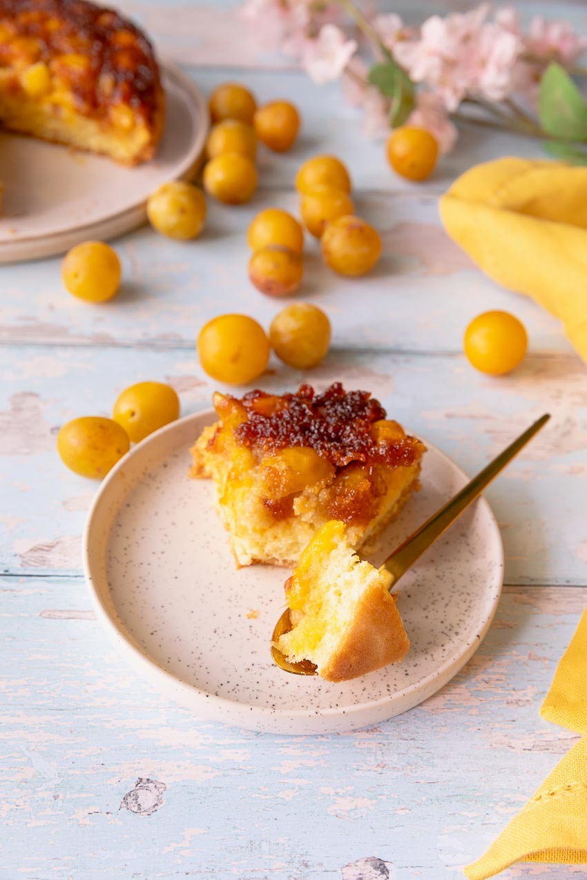 gâteau renversé mirabelles