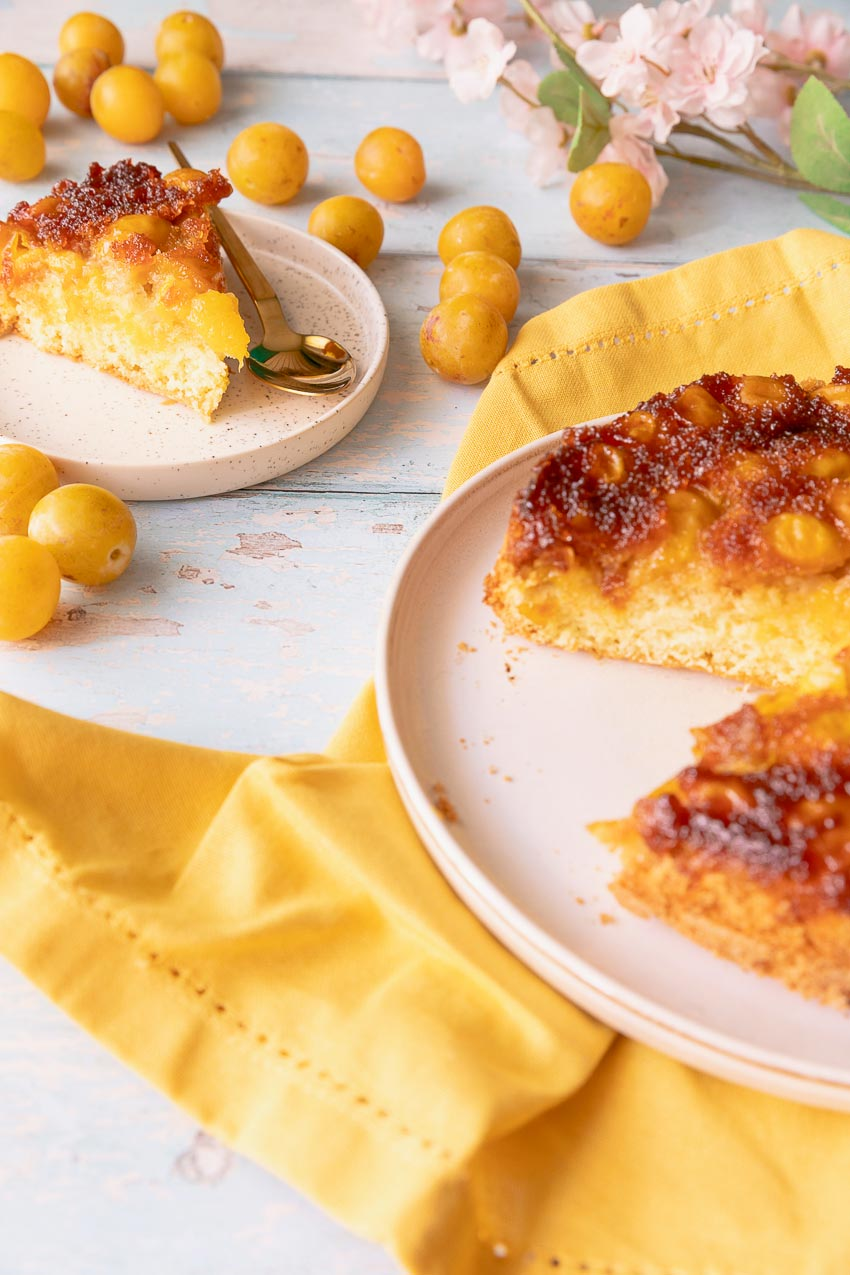 recette gâteau renversé mirabelles