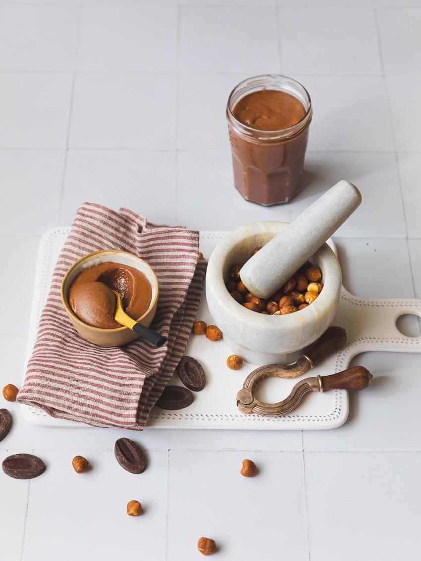 nutella maison chocolat noisettes lait concentré sucré