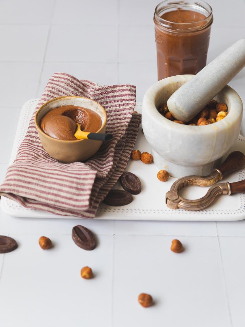 nutella maison chocolat noisettes